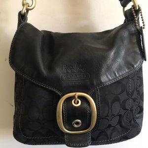 COACH Medium Interwoven Jacquard Bag - Black